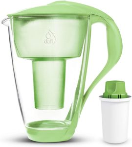 charcoal water filter glass jug