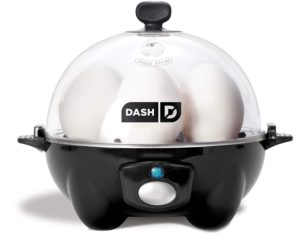 Dash Egg Cooker with eggs inside