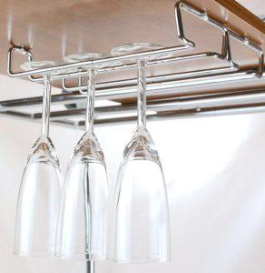 Chrome wine glass hanger