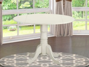 round compact dining table set