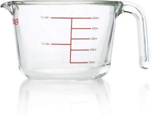 cup measuring pyrex