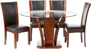 glass table set for living room