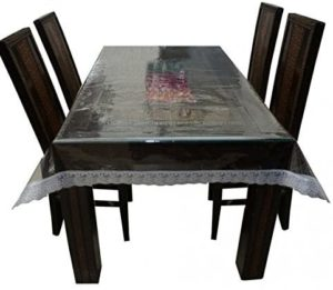 clear plastic table cover square