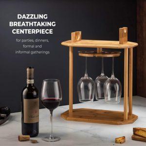 360° Swivel Free Standing Wine Glass Rack