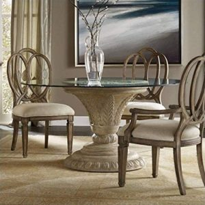 small glass dining table set