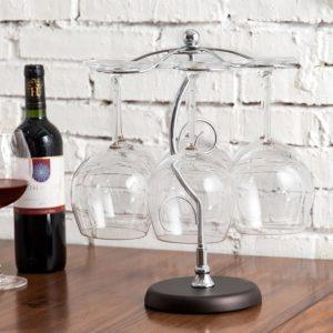 Countertop Wine Glass Holder Stand Stemware Rack