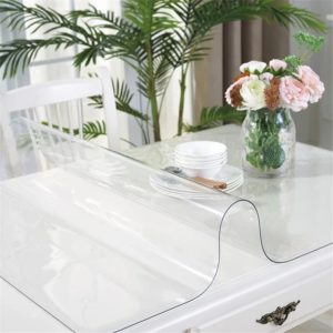 clear plastic table covers roll