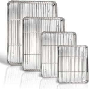 commercial stainless steel baking pans