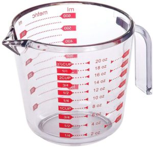 small glass measuring cup