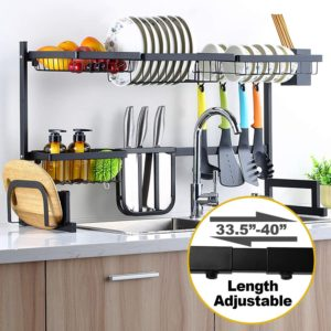 expandable over the sink dish drying rack