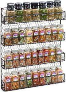 hanging spice rack organizer