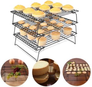 Stackable Non-Stick Cross Grid Cookie Cooling Rack