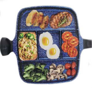 5 Section Nonstick Divided Pan, Five Compartment