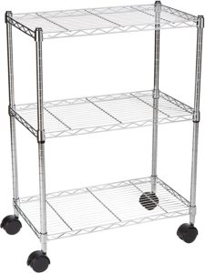 microwave cart with storage target