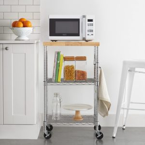 microwave storage cabinet with hutch