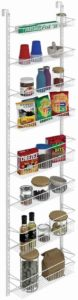 hanging spice rack with hooks