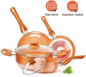 Cookware-Set Nonstick Pots and Pans-Set Copper Pan