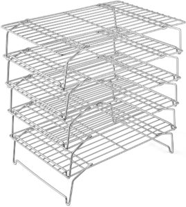 CHEF 5-Tier Stainless Steel Stackable Baking Cooking Racks