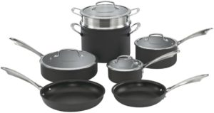 cuisinart cookware set red