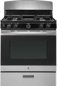 6 burner gas range double oven