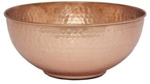 old dutch solid copper beating bowl