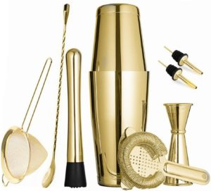 ose gold cocktail shaker set