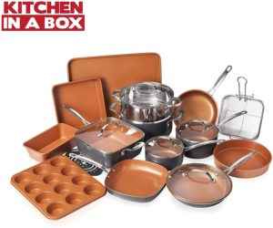 Gotham Steel Cookware + Bakeware Set with Nonstick