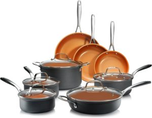 Gotham Steel Hard Anodized Pots and Pans 13 Piece Premium Cookware Set