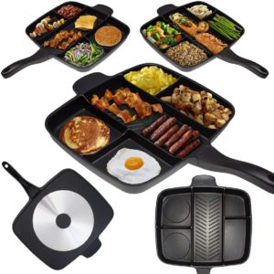 Master Pan Divided Frying Pan for All-in-One