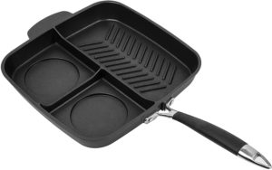 MasterPan Non-Stick 3 Section Meal Skillet