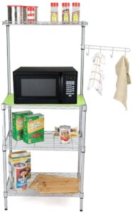 microwave cart with baskets