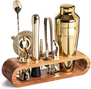 brass cocktail set