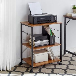 large microwave cart with storage