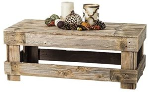 rustic iron and wood coffee tables