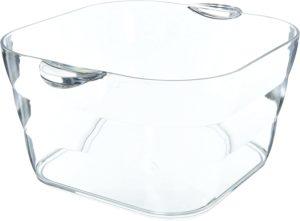 clear beer tub