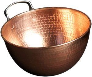 Sertodo Copper Mixing Bowl, 6 quart capacity