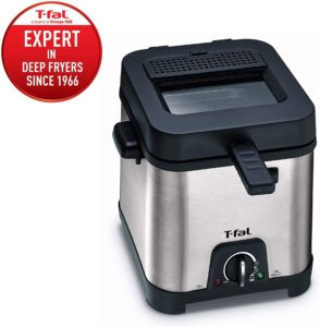 small deep fryer with removable oil container