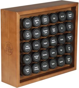 countertop wooden spice rack