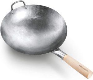 forged steel wok