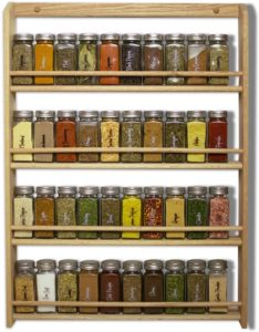 large wooden spice rack