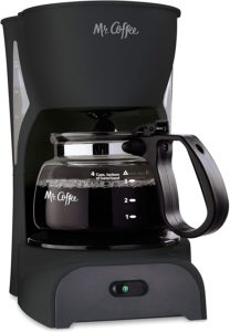 4-cup coffee maker with auto shut off