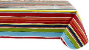 60 x 102 Summer Stripe Vinyl table cover