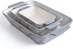 3-pice bakeware ceramic set