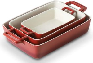 ceramic bakeware set with lids