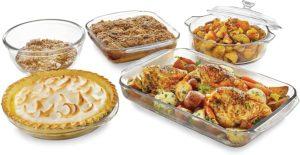 5-Piece Glass Casserole Baking Dish Set