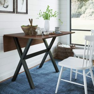 Foldable Rustic Console Table