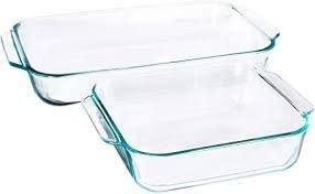 pyrex 2-piece glass bakeware set