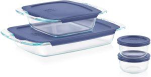 8-Piece Clear glass bakeware set
