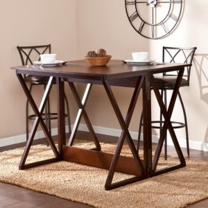 Espresso dining table foldable