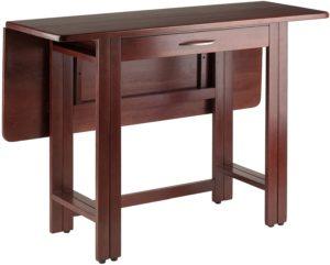 Walnut foldable dining table